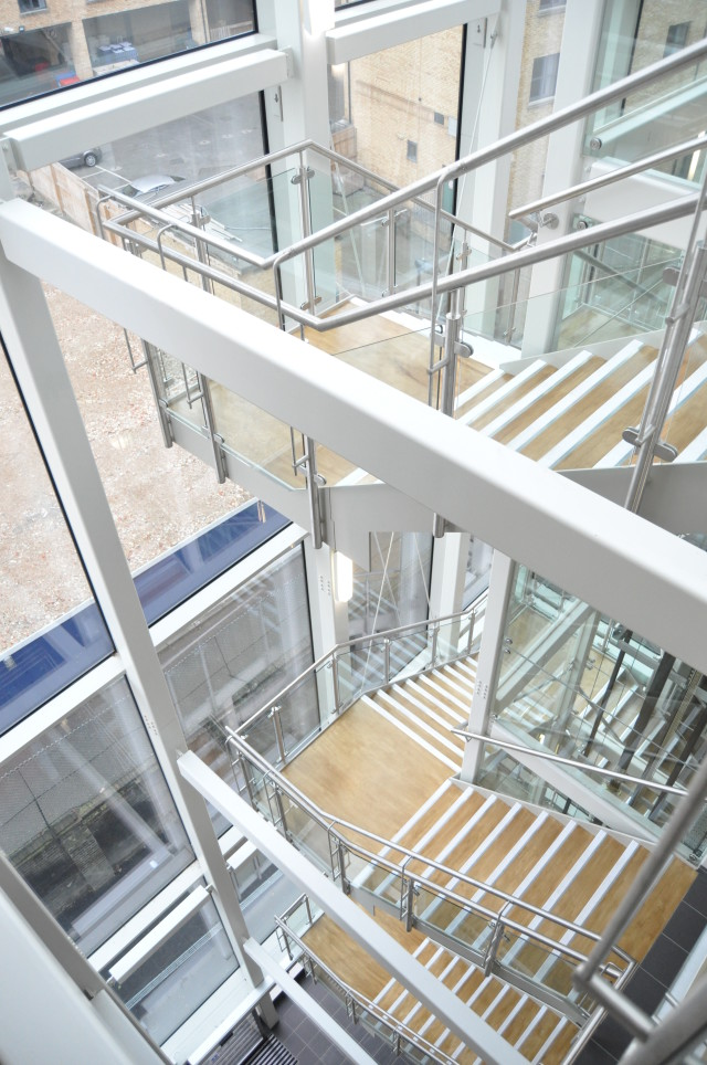 Photo of completed works - stair core