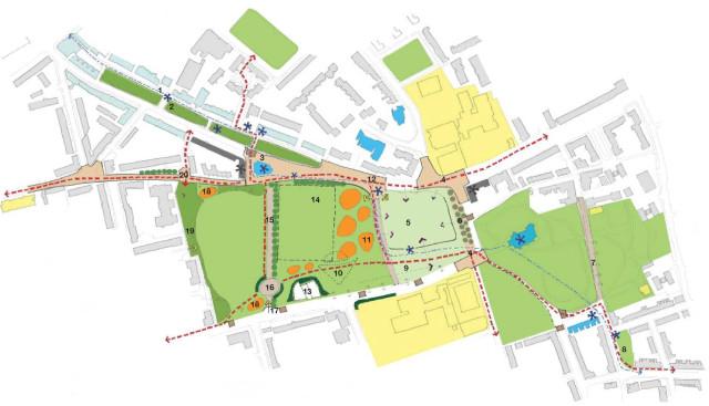 Urban realm integration diagram