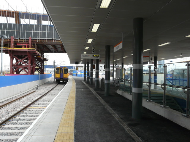 Completed platform and canopy