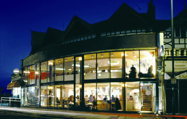 External view of the completed restaurant refurbishment