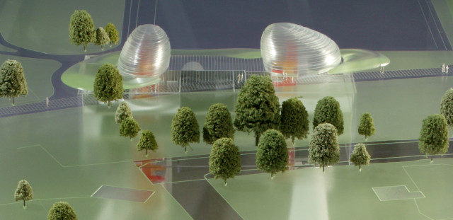 Concept model of head house structures at Stepney Green