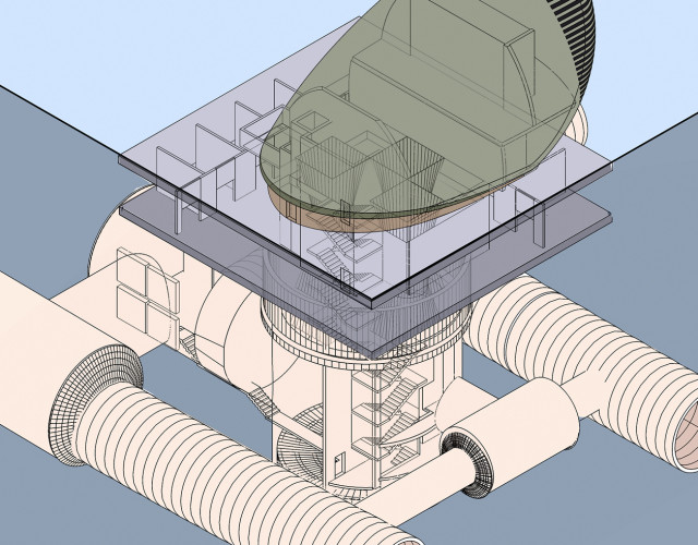 Image of Ventilation shaft head house design