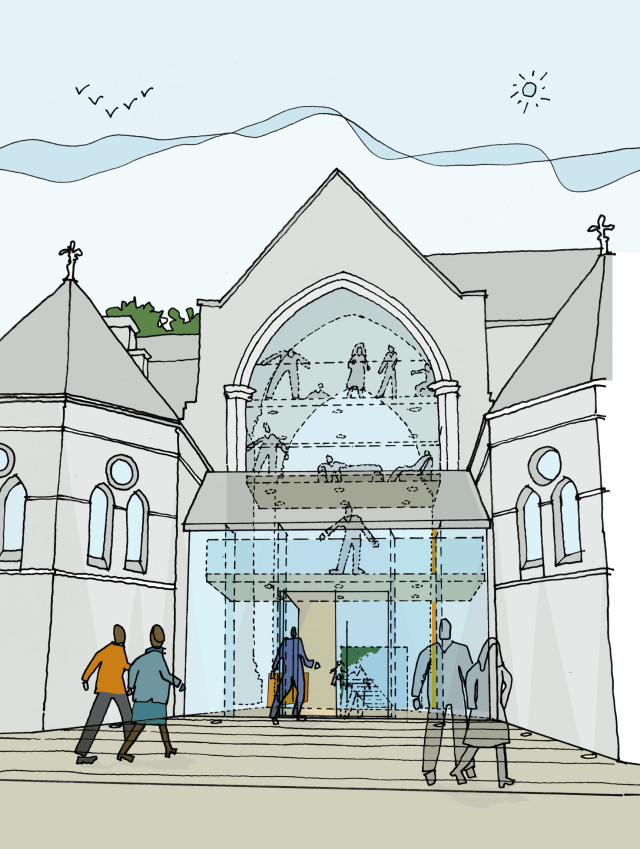 Illustration of the proposed glazed entrance