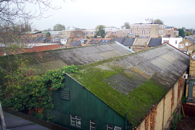 View of the existing industrial garden sheds